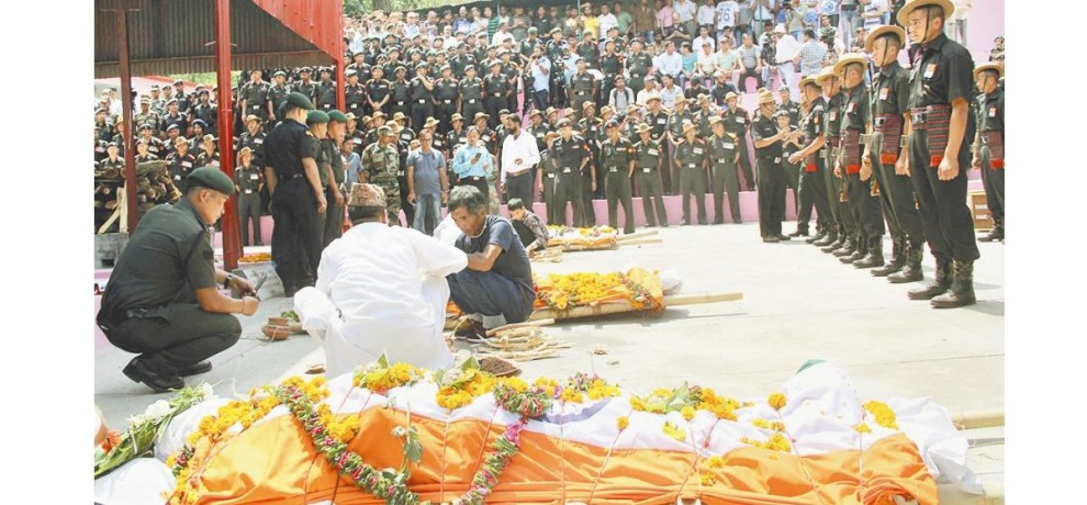 cremation of indian army jawans in solan himachal pradesh
