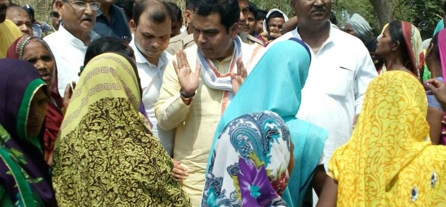 minister shrikant sharma inspection in sultanpur government hospital