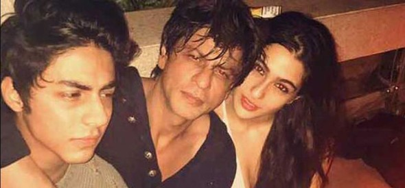 karan johar birthday bash shahrukh khan photo with sara ali khan and aryan goes viral