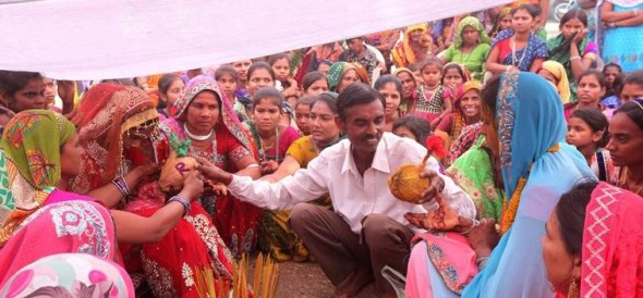sisters in law marry each other in  Chhota Udepur Gujarat.