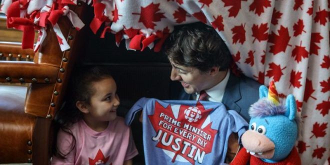 Canada: 5-year-old becomes PM for a day, built a pillow fort