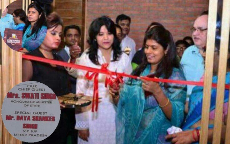 swati singh inaugurates beer shop