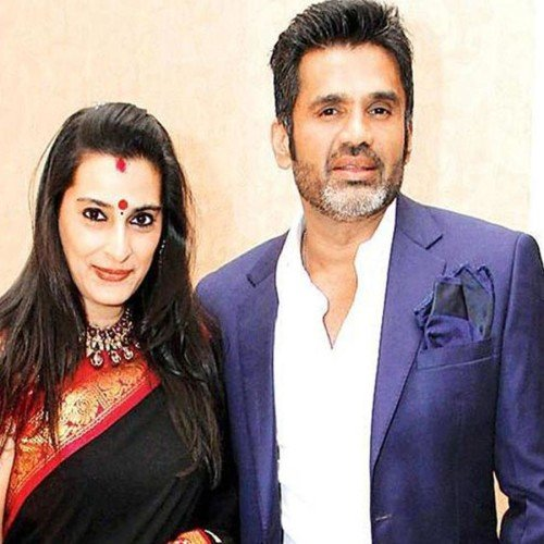 Image result for sunil shetty and wife