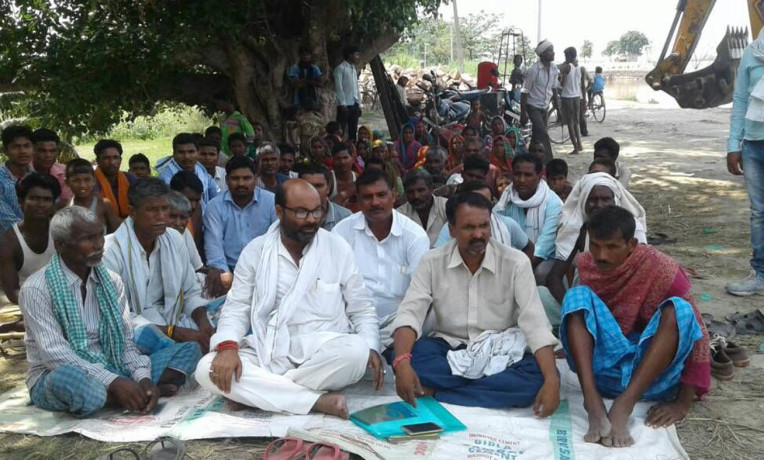 MLA on strike for dam repairing