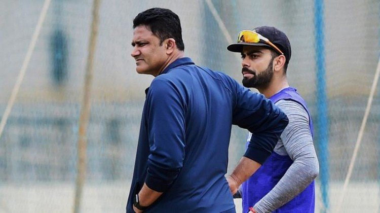 no showdown coach anil kumble gives virat kohli throwdowns