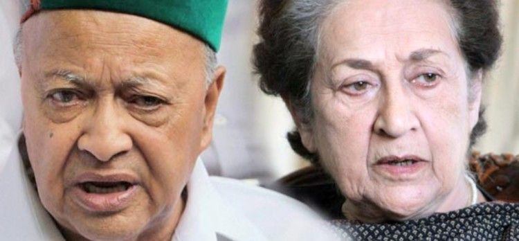 cm virbhadra singh and vidya stokes shows unity for vidhan sabha election