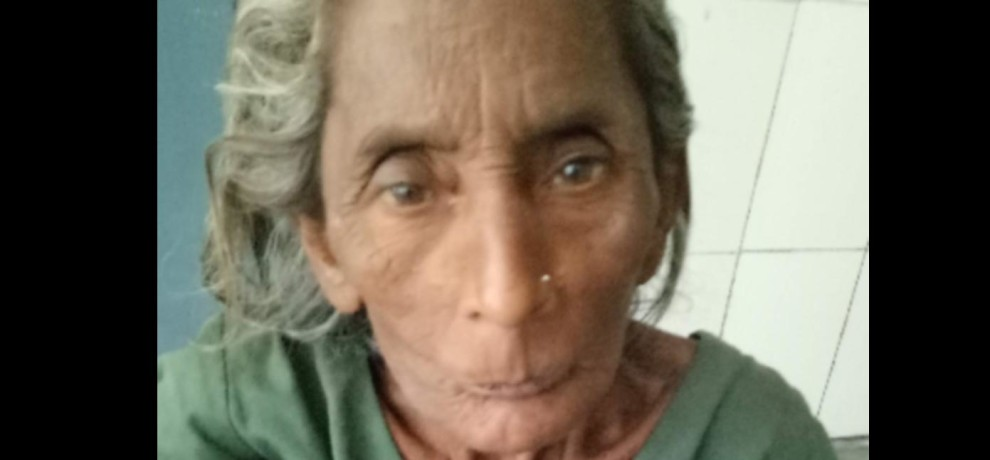 doon hospital old lady waiting for treatment
