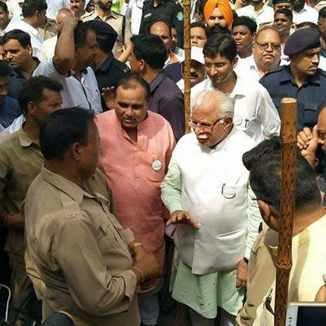 High voltage disorder in Manohar lal khattar program