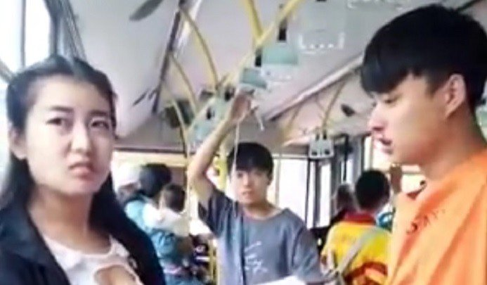 guy's nose suddenly bleeds after seeing a hot girl in metro