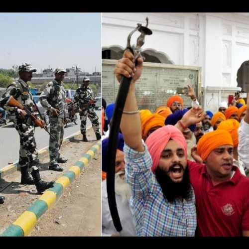 khalistan zindabad slogans in golden temple