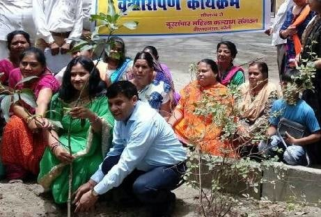 BSNL Office Planting plants in the premises