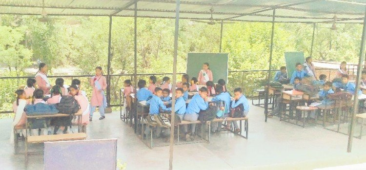 Sirmour Himachal Pradesh Primary Government School Running from a tin shed