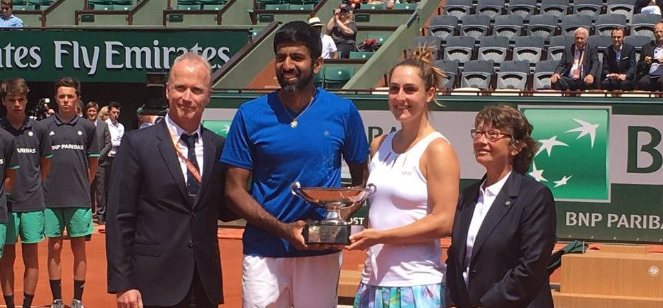 rohan bopanna won french open mixed doubles title