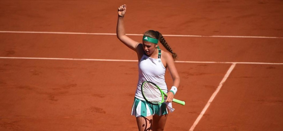 I thought grass courts were for football says french open champion Jelena Ostapenko