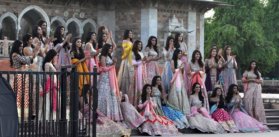 miss india contest rajasthan-models walk on heritage path in jaipur