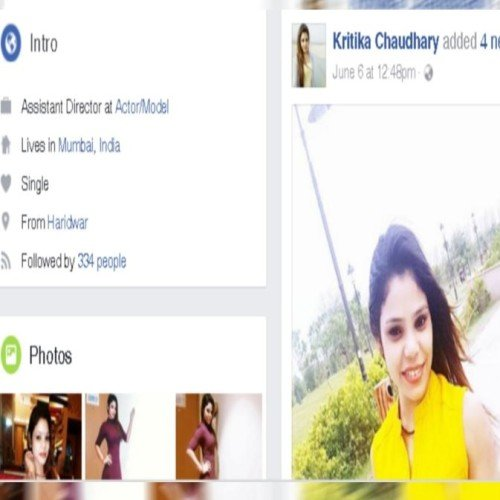 bollywood Actress Kratika secret of facebook open After Her death