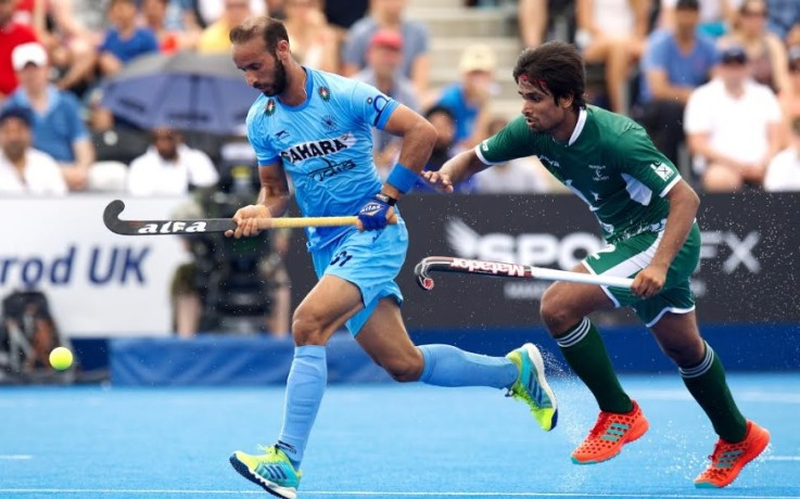 Indian Men's Hockey team wore black arm band during Hockey World League semifinal against Pakistan