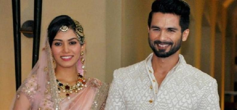Shahid Kapoor and Mira Rajput looking adorable At A Wedding function