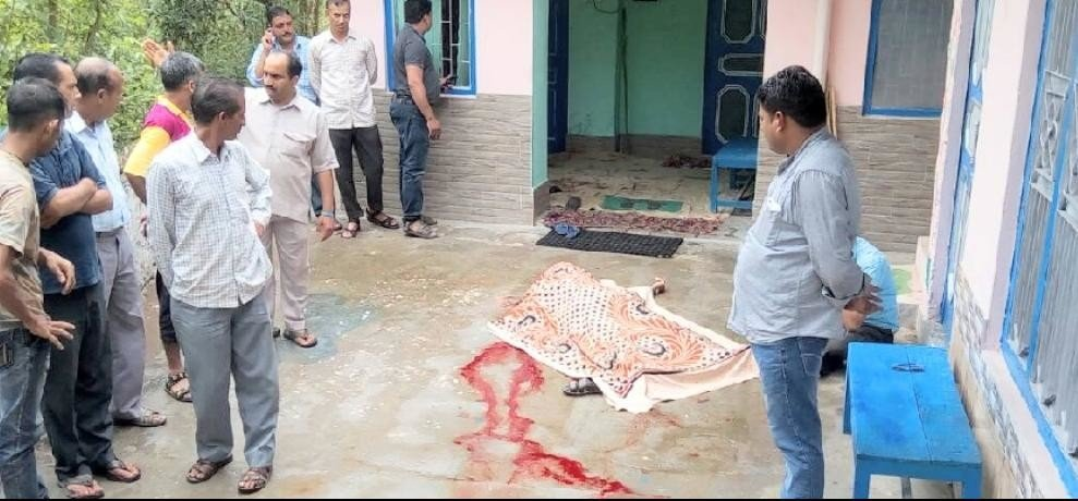 Retired School Teacher Murdered with sickle in Bilaspur