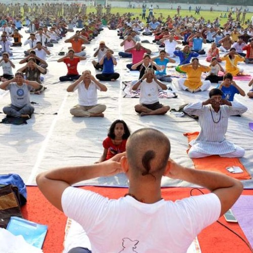 world yoga day in prime minister constiyuency
