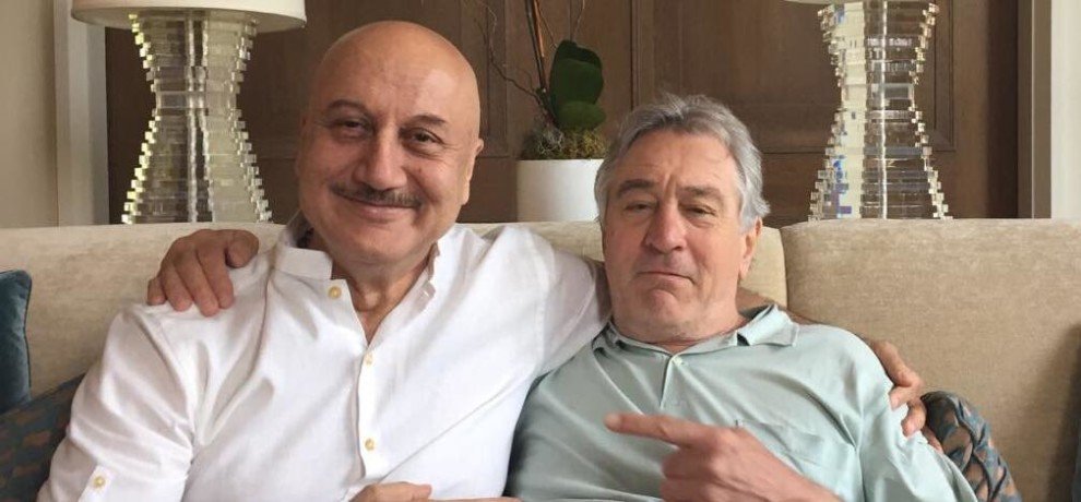 anupam kher posted the lunch photos with hid hollywood co star robert de niro