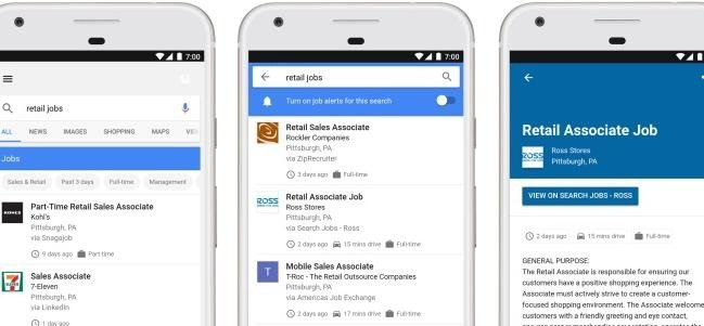 Google launches its AI powered jobs search engine