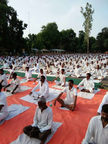yoga day celebrated on Thursday in all districts of Chhattisgarh