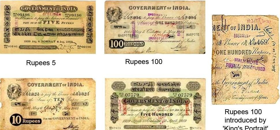 fake notes were also circulated during british era