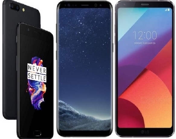 OnePlus 5 vs Samsung Galaxy S8 vs LG G6, Price, Camera, Specs and more