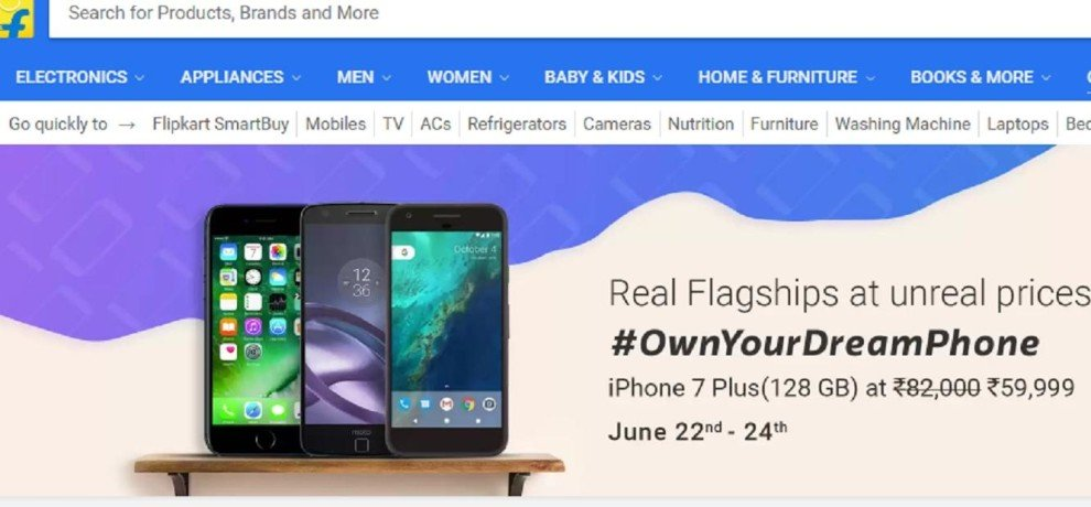 Flipkart Dream Phone Sale Offers, Heavy Discounts on iPhone, Moto and Google Pixel
