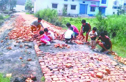 people of colony made 250m road on their own