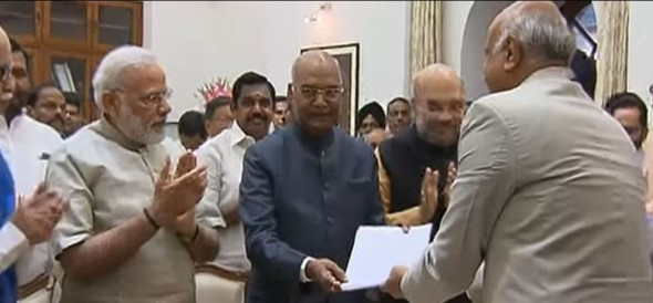 Ram Nath Kovind files nomination for presidential election in the presence of PM modi