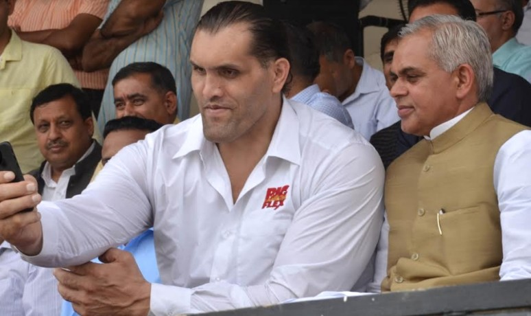 The Great Khali Angry on Himachal Goveronment.