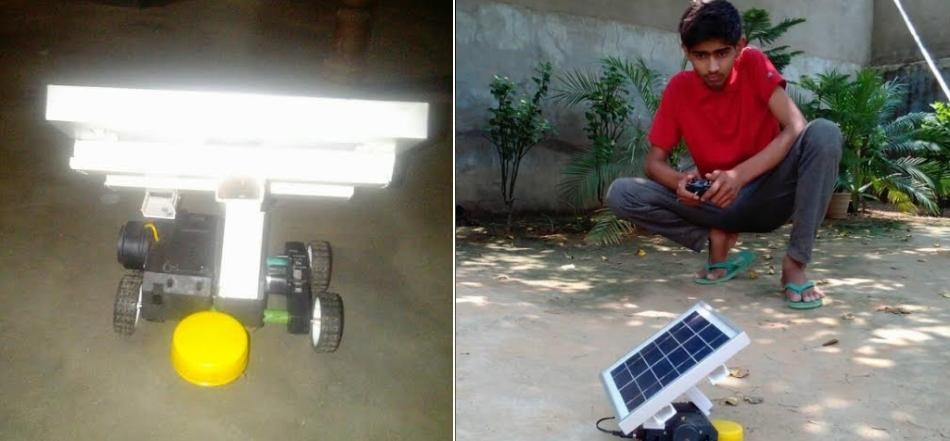 unique invention in india, battery car invented by student to detect mine