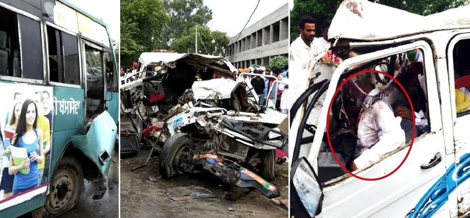 muktsar bus and cruiser accident, five killed