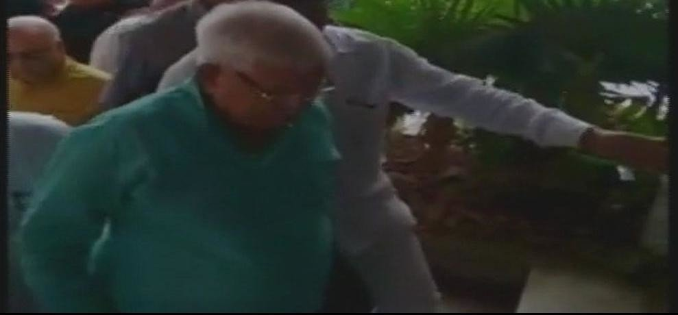 RJD chief lalu prasad yadav apperars before a special CBI court in fodder scame case