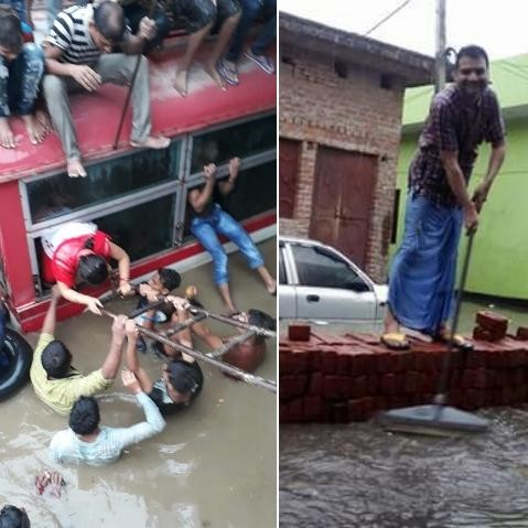 lucknow people suffered drainage system proble after frist rain