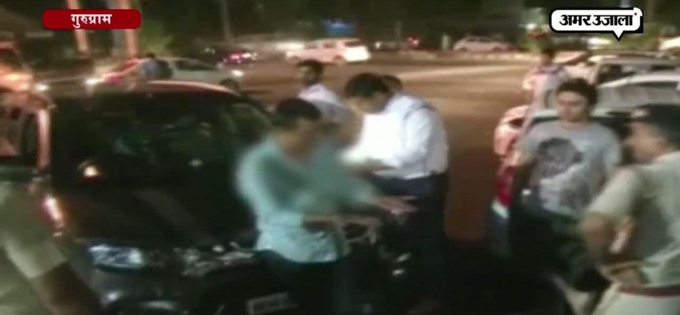 Drunk driver hurts self, misbehaves with cops during checking in Gurugram