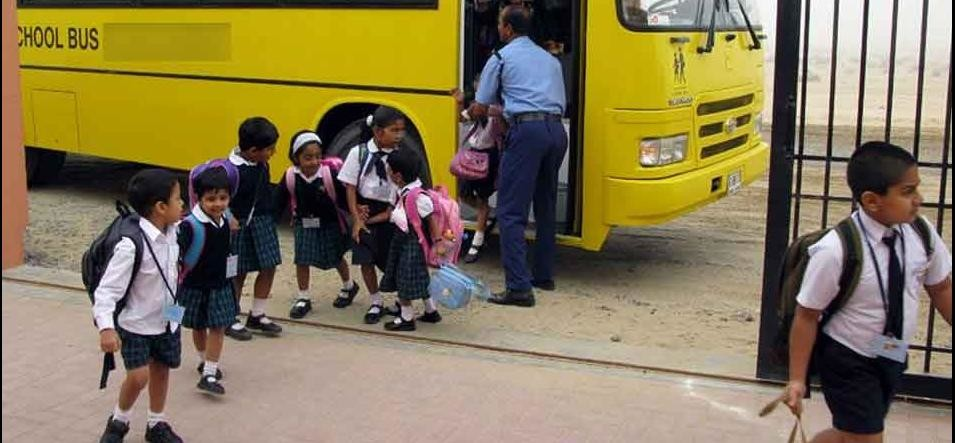 transport that carries kids to school not safe in gurugram