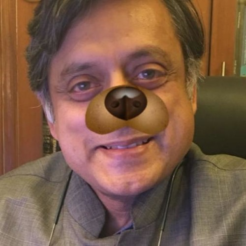 Shashi Tharoor Uploads A Photo With Snapchat Dog Filter after Modi Meme Controversy