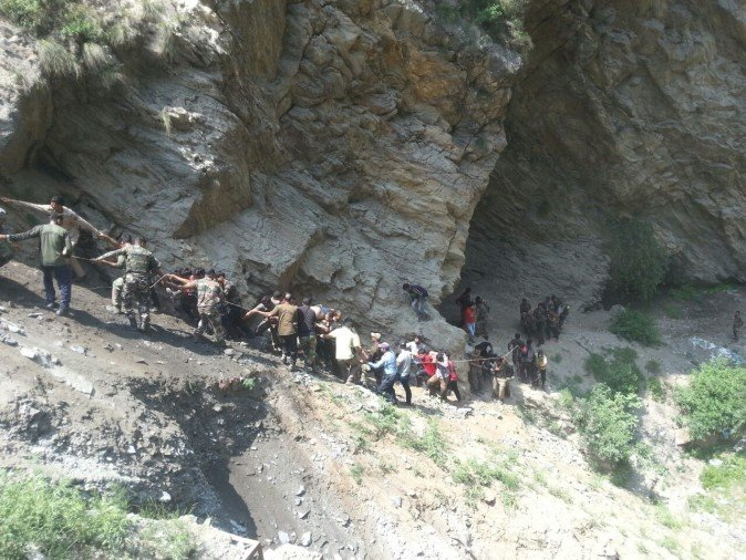 Bus fell into river on Jammu-Srinagar highway