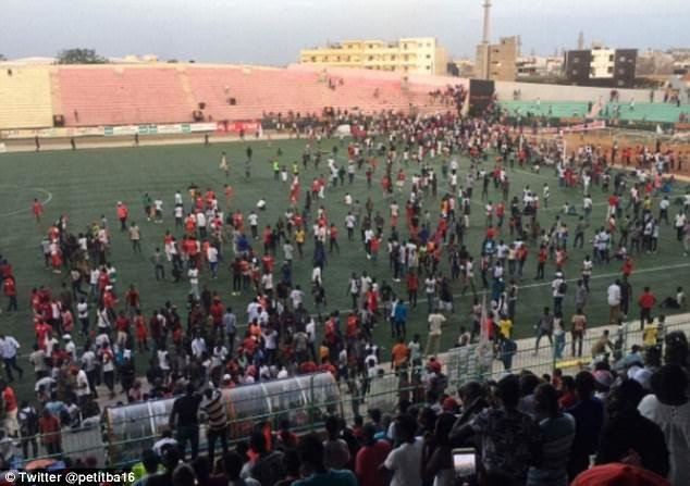 stempede in football stadium of senegal many died