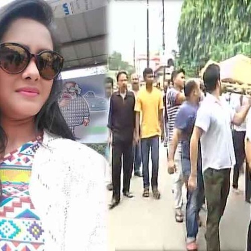 Assamese actress and singer Bidisha Bezbaruah mortal remains being taken for last rites in Guwahati