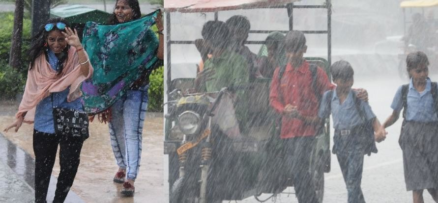 pics of rain in Lucknow in UP