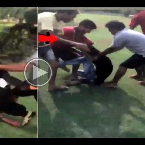 Gang of boys beat up couple for sitting together in park