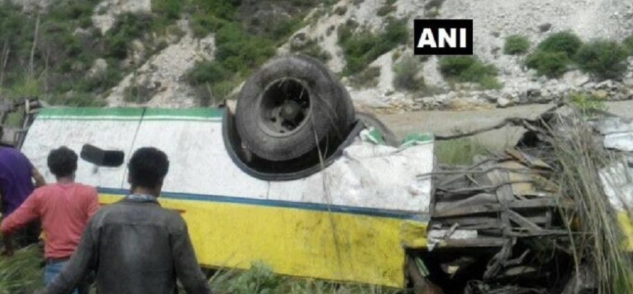PRIVATE BUS FALLS IN SATLUJ RIVER IN SHIMLA, 28 PEOPLE DEAD
