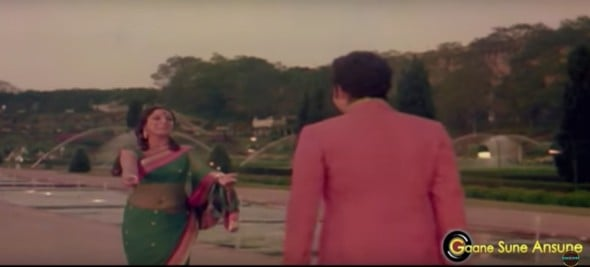 Anand Bakshi as playback singer in this beautiful song from Mom Ki Gudia