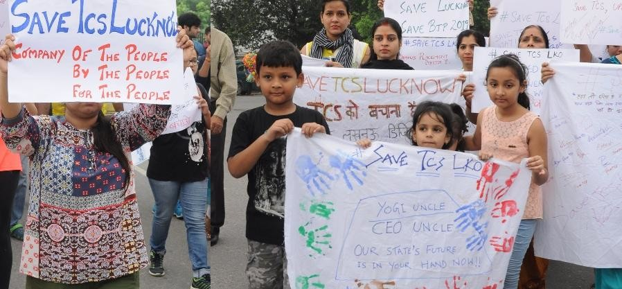 IT professionals fight to save TCS Lucknow.