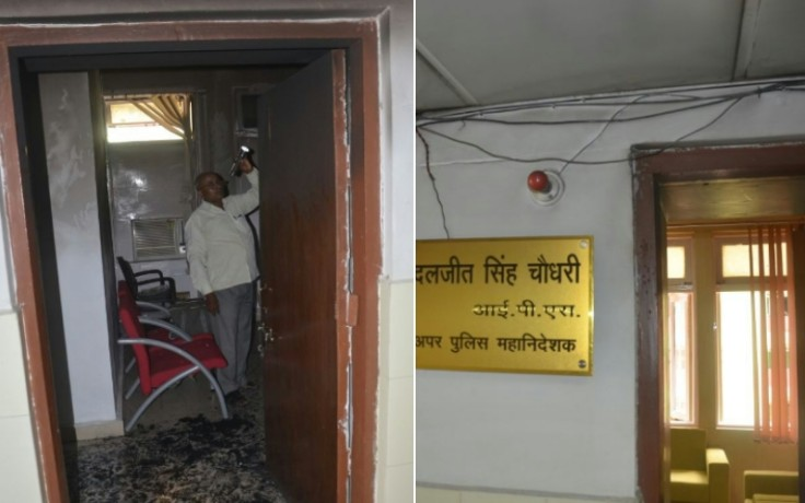 jawahar bhawan fourth floor caught fire