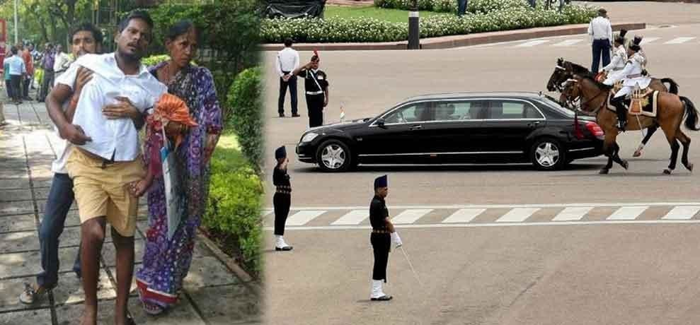 president ramnath kovind convoy create big trouble for patient of paralysis